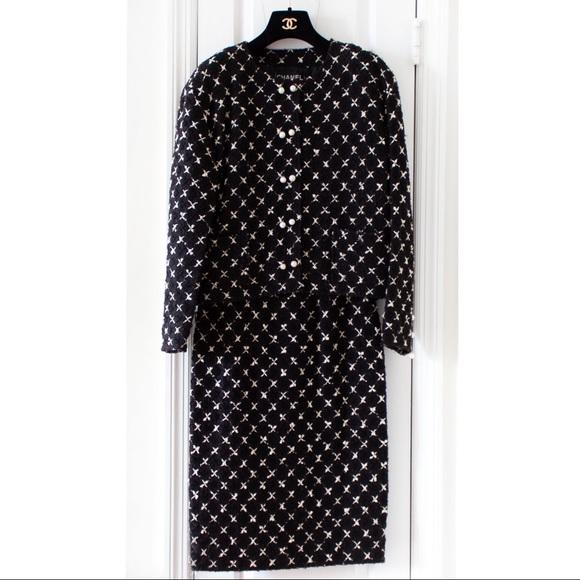 CHANEL Jackets & Blazers - Rare Chanel Vintage 1983 Karl Black Jacket Suit